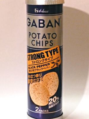 GABAN POTATO CHIPS STRONG TYPE (BLACK PEPPER)