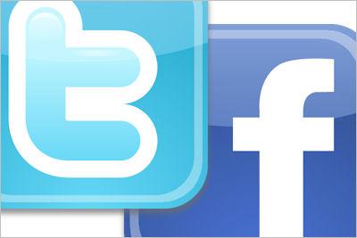 Facebook Twitter ロゴ