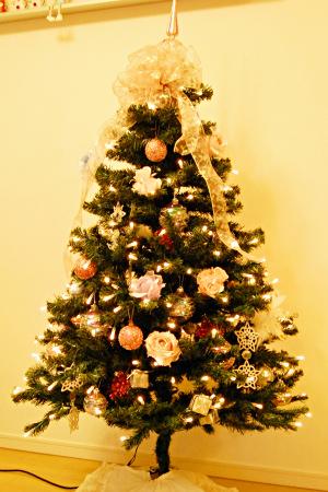 クリスマスツリー 電飾 オーナメント バラ