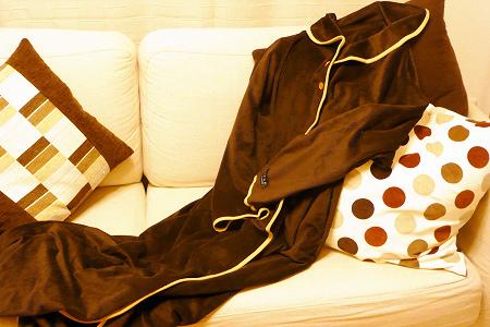 着る毛布 マイクロファイバー 袖つき mofua