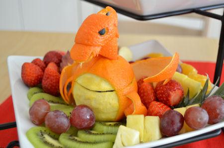 リザードン オレンジ フルーツカービング